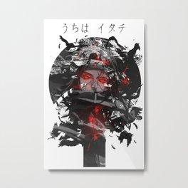 Uchiha Akatsuki Dark Monochrome Metal Print