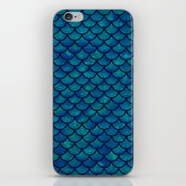 Mermaid scales iridescent sparkle iPhone Skin
