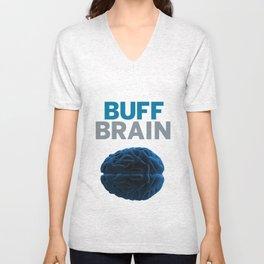 Buff Brain Unisex V-Neck