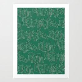 Tumbling Tumblers Art Print
