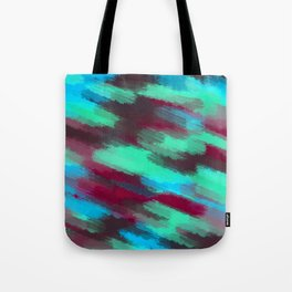 green blue red and brown painting texture abstract background Tote Bag