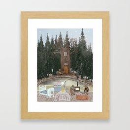 house of bear Framed Art Print