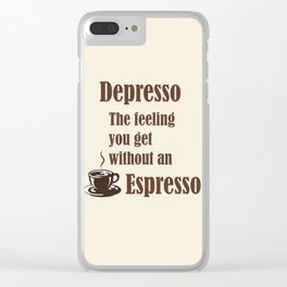 Espresso Clear iPhone Case