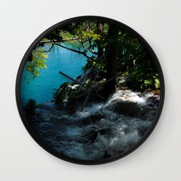 Beyond the water's edge Wall Clock