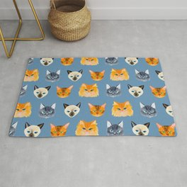 Cats Blue Rug