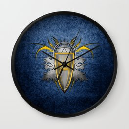 D20 Master of Dungeons and Dragons Blue Wall Clock