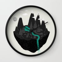 island Wall Clocks featuring island. by Louis Roskosch