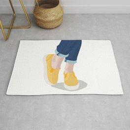 Happy little yellow sneakers Rug