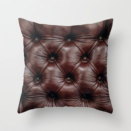Leather you Like it or not Throw Pillow