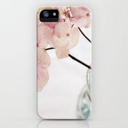 Minimalist Pink Hydrangea iPhone Case