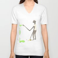 graffiti V-neck T-shirts featuring GRAFFITI by auntikatar