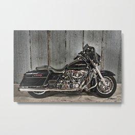 Black Harley Street Glide Metal Print