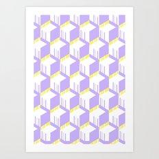 PastelCube Art Print