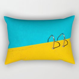 yellow blue pool Rectangular Pillow
