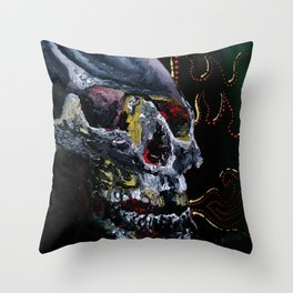 Society Skull Throw Pillow