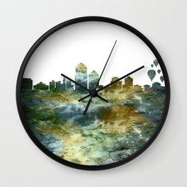 Albuquerque Skyline New Mexico Wall Clock