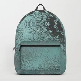 Turquoise ornament, kaleidoscope Backpack