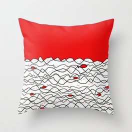 Fish and some other sea Throw Pillow