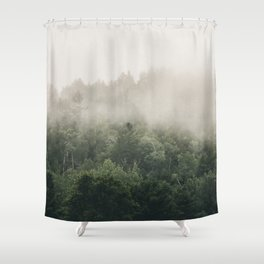 Forest Fog Photography | Woods | Misty | Mist | Forest Dew | Kaszuby Canada | Nature Photography Shower Curtain