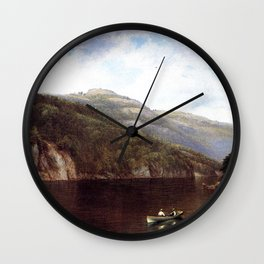 Boating On Lake George 1870 By David Johnson | Reproduction | Romanticism Landscape Painter Wall Clock