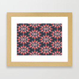 Daily pattern: Retro Flower No.9 Framed Art Print