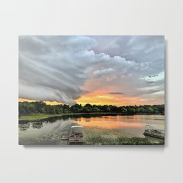 """Stormy Sunset"" Metal Print"