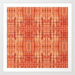 Red Chile Plaid Art Print