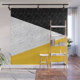 Black yellow white flap Wall Mural