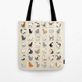 Cat Breeds Tote Bag