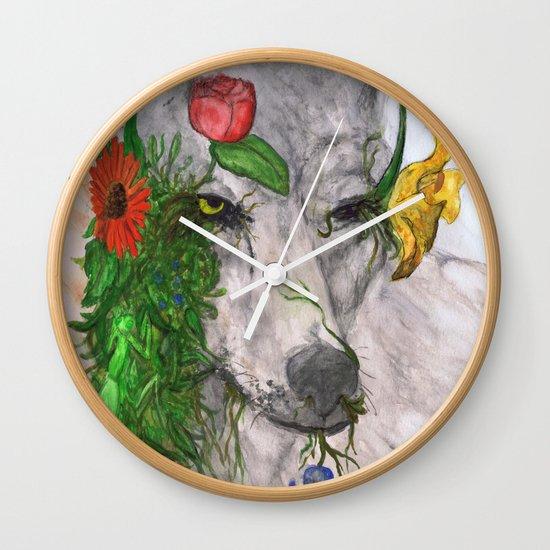 """""""Wolf's Law"""" by Cap Blackard Wall Clock"""