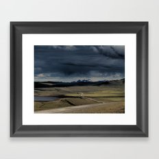 enter the highlands Framed Art Print
