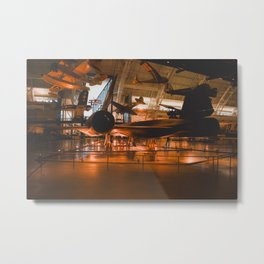 SR-71 Blackbird at the National Air and Space Museum Metal Print