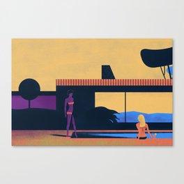 la piscine Canvas Print