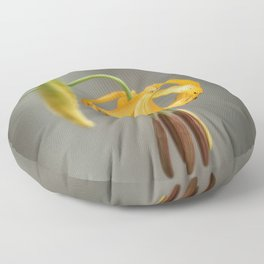 Tiger Lily Flower Floor Pillow