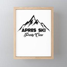 Apres Ski Party Crew Framed Mini Art Print
