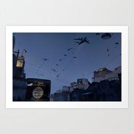 Airborne wake up call! Art Print