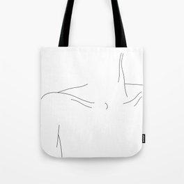 Woman's collar bones minimal illustration - Dale Tote Bag