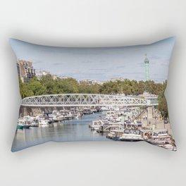 Canal Saint Martin - Paris Rectangular Pillow