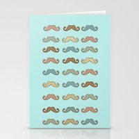 mustache Stationery Cards featuring Mustache! by Luly Lauredo