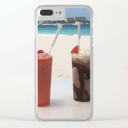 More drinks on the beach please! Clear iPhone Case