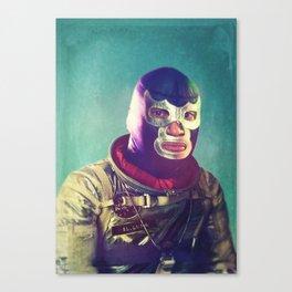 Luna Luchador Canvas Print