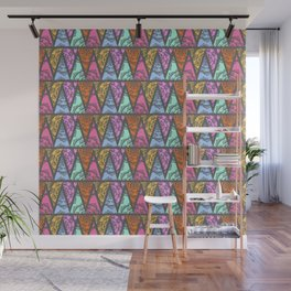 Lace Triangles in Grey Wall Mural