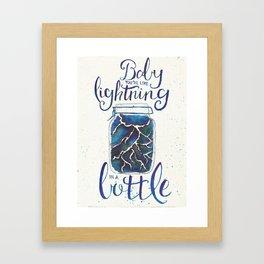 Lightning In A Bottle Framed Art Print