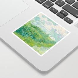 Vincent van Gogh Green Wheat Fields, Auvers 1890 Painting Sticker