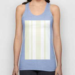 Mixed Vertical Stripes - White and Beige Unisex Tank Top
