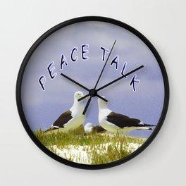 PEACE TALK Wall Clock