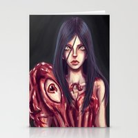 in the flesh Stationery Cards featuring Flesh Maiden by pandatails
