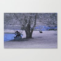 fishing Canvas Prints featuring Fishing by Anthony M. Davis