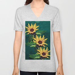 Watercolor sunflowers Unisex V-Neck