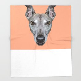 Whippet // Peach (Vespa) Throw Blanket